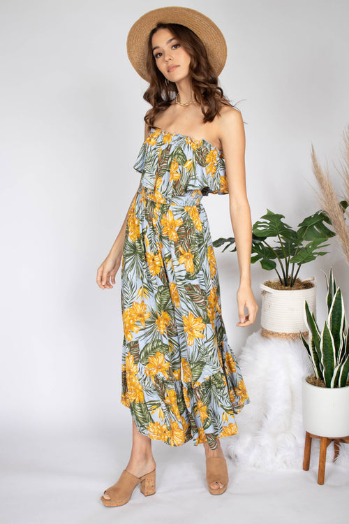 Hawaii Strapless Jumpsuit