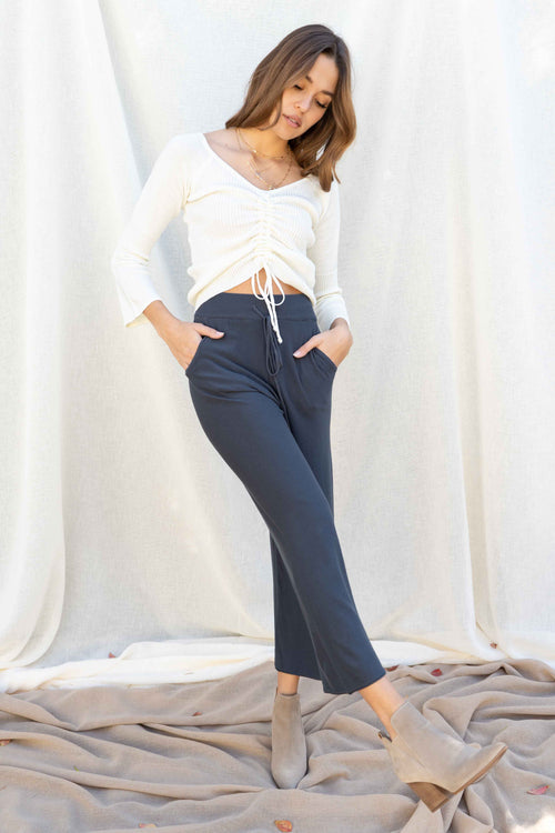Nayeli Wide Leg Side Pocket Pants
