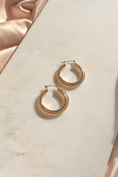 Staple Metallic Hoop Earrings