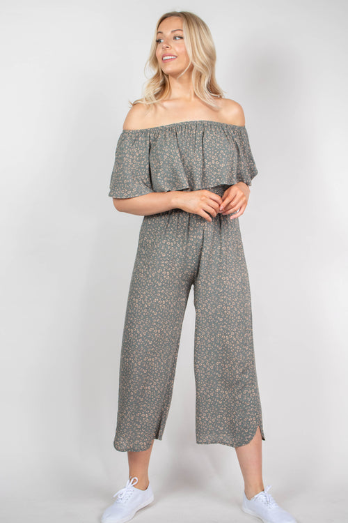 Vicky Strapless Ruffle Jumpsuit