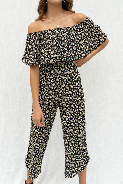 Callie Floral Over Lay Jumpsuit
