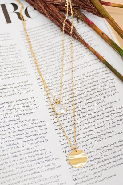 Diamond Circle Layered Necklace