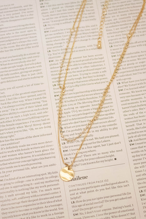 Dainty Two Layered Necklace