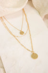 Layered Dainty Coin Necklace