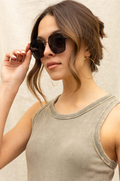 Cali Metal Round Sunglasses