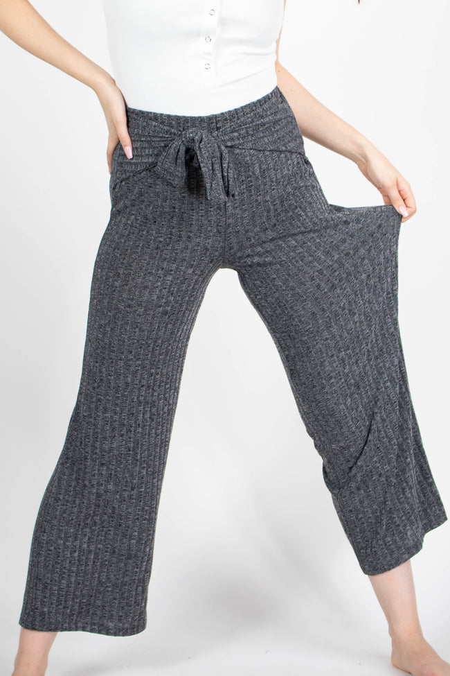 Alexa Ribbed Tie Front Pants