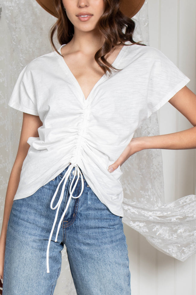 Chloe Short Sleeve Ruched Top