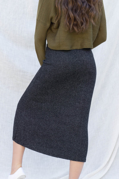 Emma Two Toned Ribbed Skirt