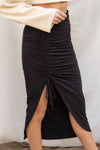Pamela Ruched Detail Maxi Skirt