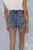 Tea Side Rolled Up High Rise Shorts