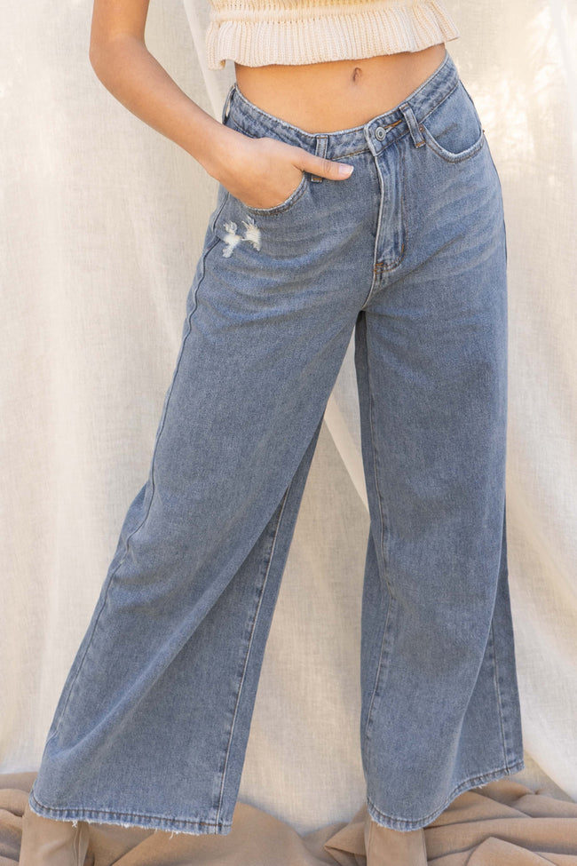 Alana Wide Leg Denim Pants