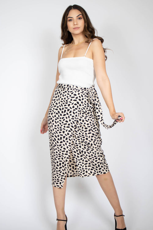 Sweetheart Wrap Midi Skirt