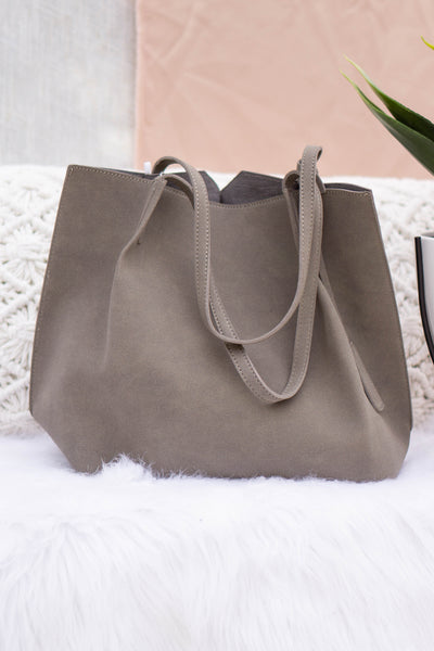 Large Suede Tote Bag