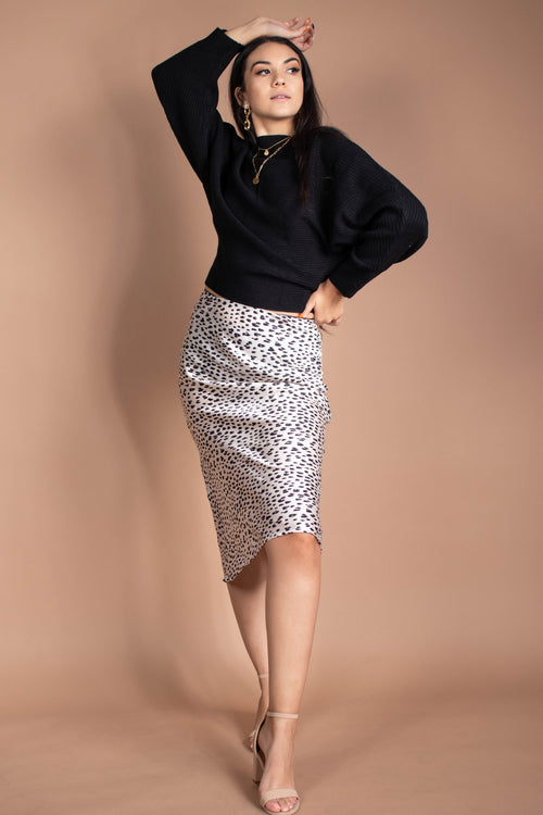Belle Animal Print Midi Skirt