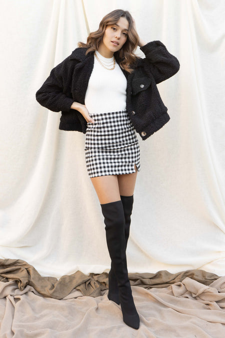 Danna Plaid Mini Skirt