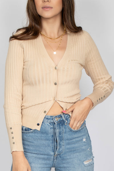 Amanda Ribbed Cardigan