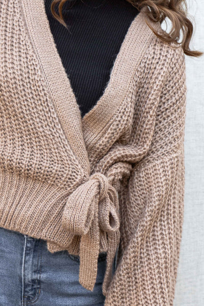 Fall Vibes Wrap Cardigan