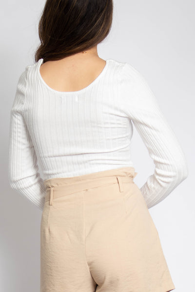 Ellie Notched Ribbed Top