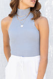 Ariella Sleeveless Mock Neck Top