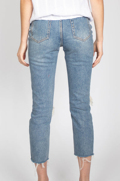 Destroyed High Rise Denim