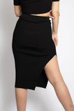 Kourtney Slit Midi Skirt