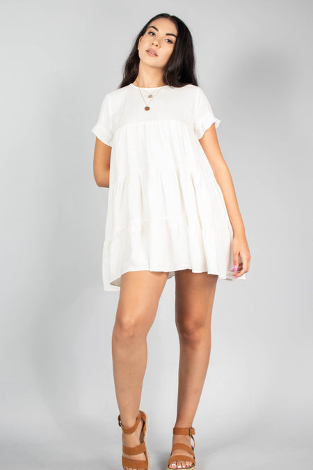 Abi Round Hem Pocket Dress