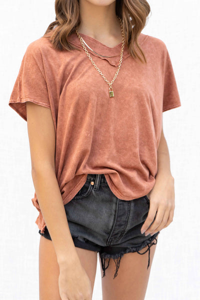 Demi Mineral Wash Loose Fit Top
