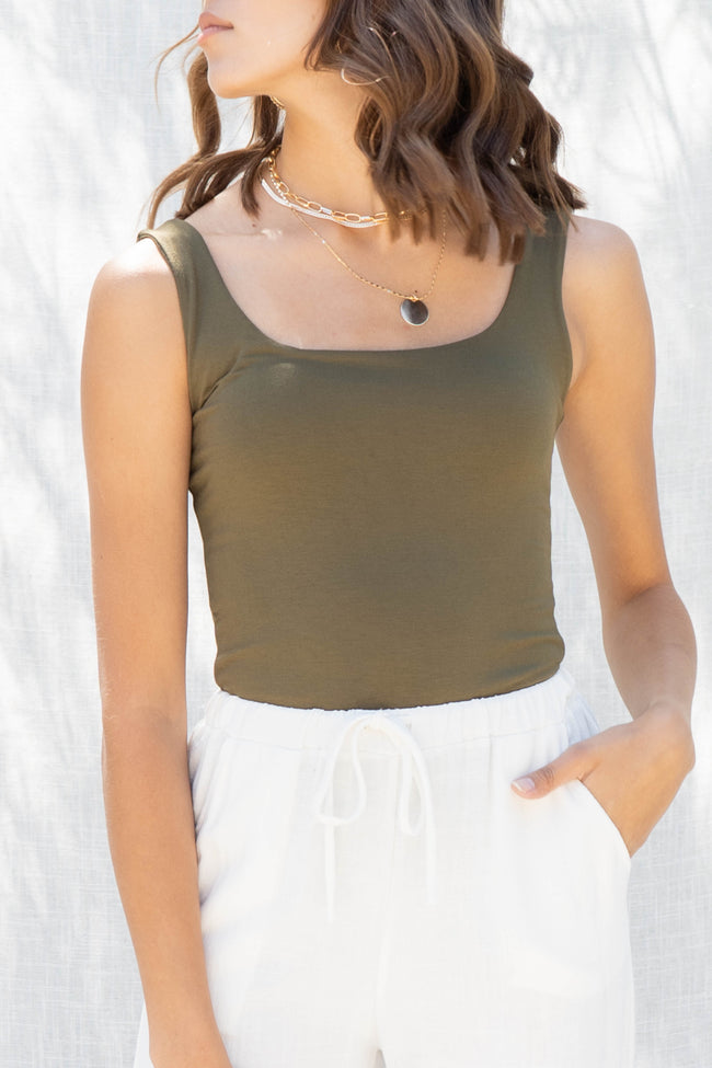 Sariyah Square Neck Tank Top