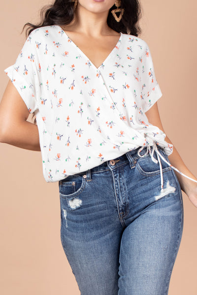 Flower Garden Tie Waist Top