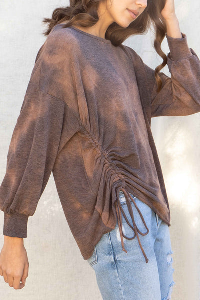 Melissa Oversized Ruched Top