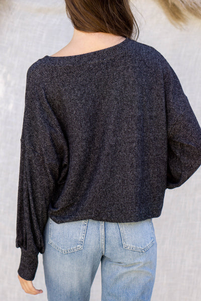 Two Tone Brushed Knit Top