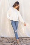 Rosey Balloon Sleeve Top