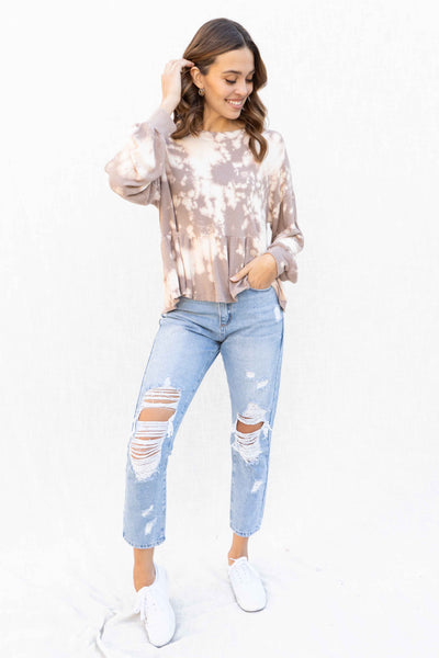 Unbothered Oversized Peplum Top