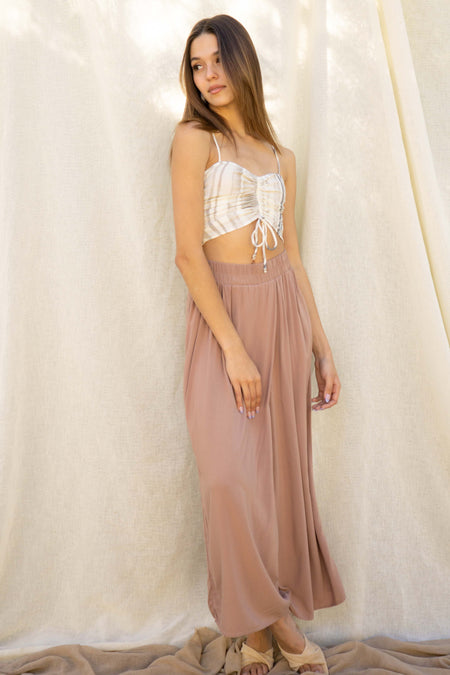 Esme Ruched Crop Top