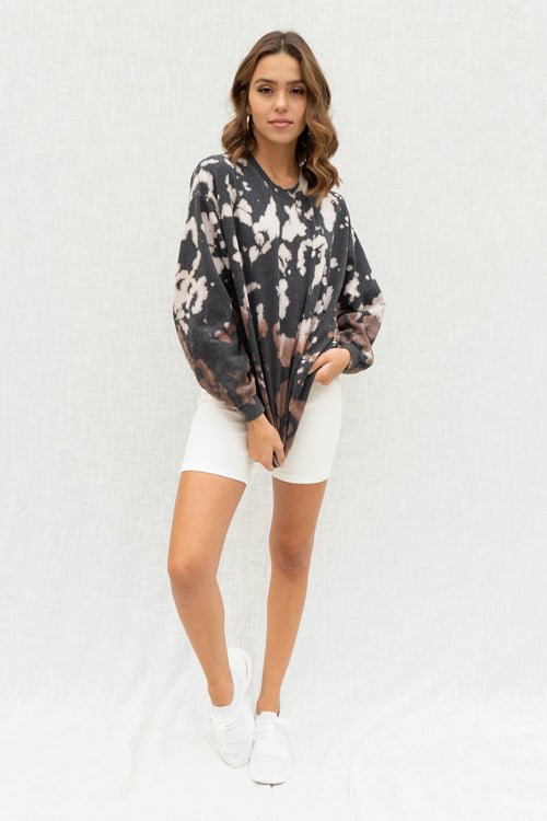 Charcoal Tie Dye Pullover