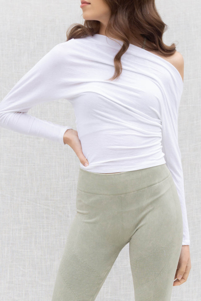 Claire Asymmetrical Drape Top