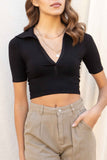 Julie Collared Crop Top