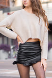 Elle Ribbed Crop Sweater Top