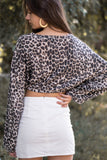 Cheetah Print Tie Front Top