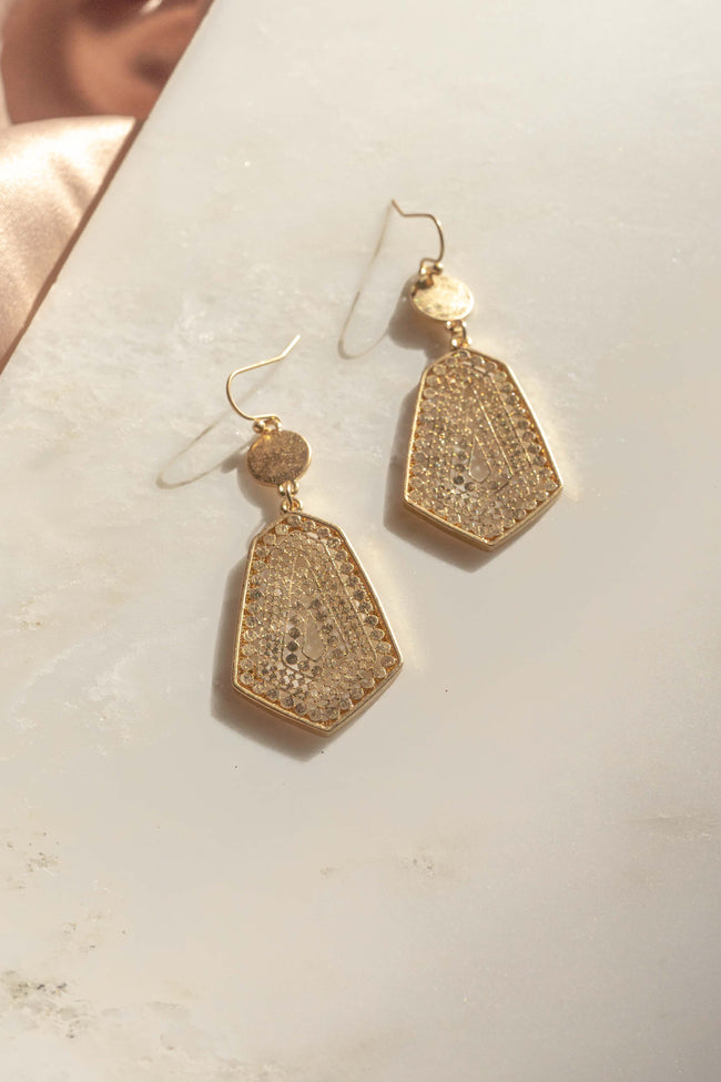 Ornate Geo Shape Earrings