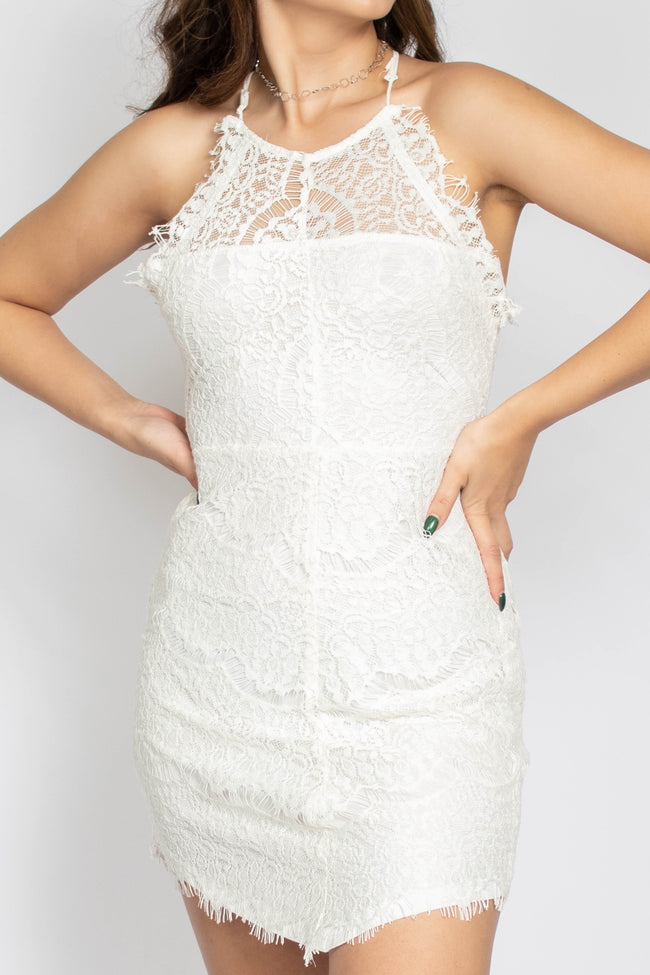 Aurora Lace Mini Dress