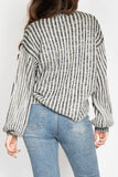 Emma Mock Neck Stripe Sweater