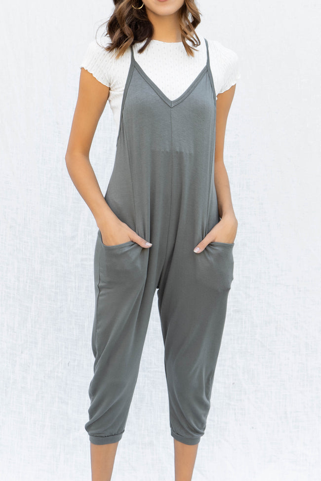 Slouchy French Terry Jumpsuit