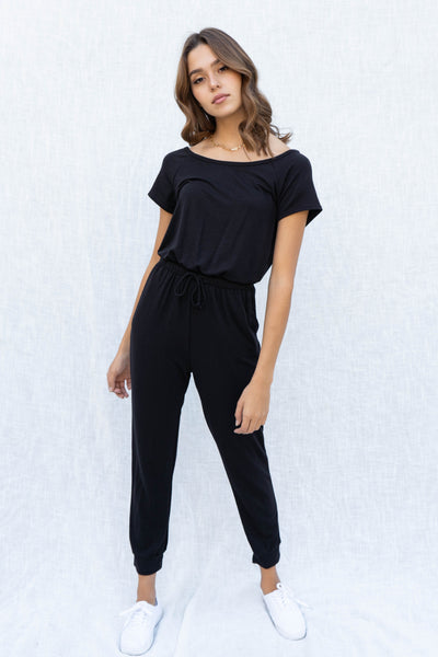 Oceanside Off Shoulder Jumpsuit