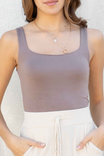 Brooke Square Neck Tank Top
