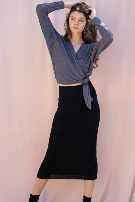 Alina One Shoulder Sweater Dress