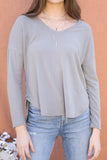 Ally Soft Brushed V Neck Top