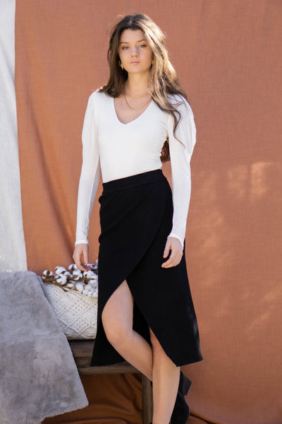 Double Layered Puff Sleeve Top
