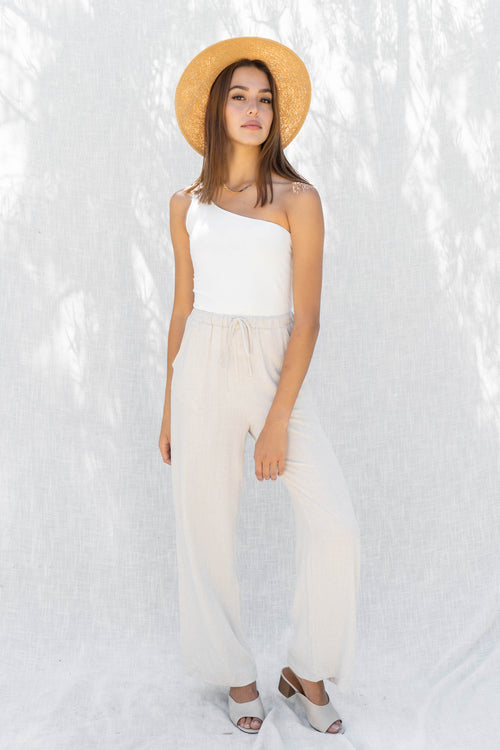 Double Layered One Shoulder Crop Top