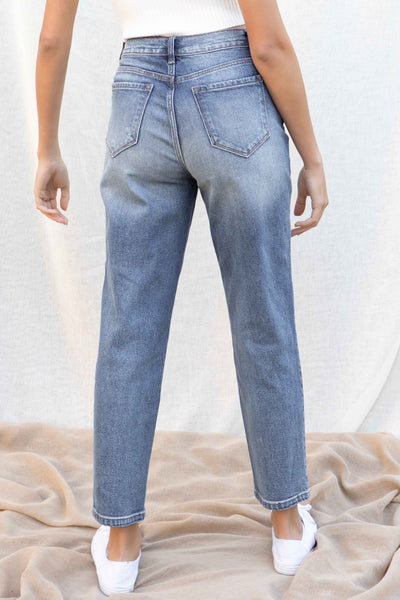 High Rise Mom Fit Jeans